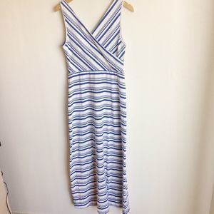 Amelia James Alternating Stripe Maxi Dress Size M